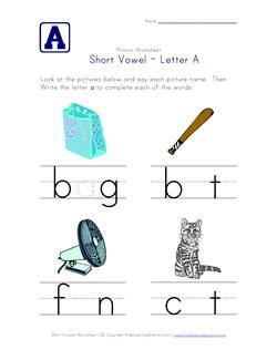 math worksheet : short vowel a worksheet  kids learning station : Short Vowel Sounds Worksheets For Kindergarten
