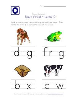 Short Vowel O Worksheet | Kids Learning Station