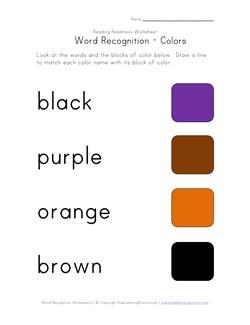 math worksheet : recognize words worksheet  color names  kids learning station : Kindergarten Color Word Worksheets
