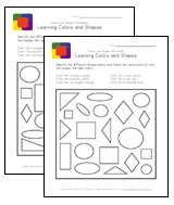 shapes and colors worksheets