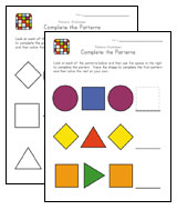easy patterns worksheets