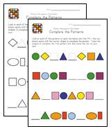 preschool pattern recognition worksheets kids learning station. Black Bedroom Furniture Sets. Home Design Ideas