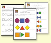 preschool pattern recognition worksheets