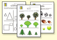 sizes worksheets