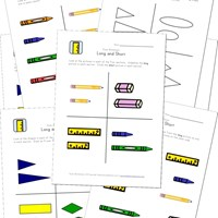 math worksheet : preschool size worksheets  kids learning station : Long And Short Worksheets For Kindergarten