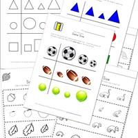 math worksheet : sports theme same worksheet  kids learning station : Sports Math Worksheets