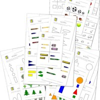 preschool size worksheets