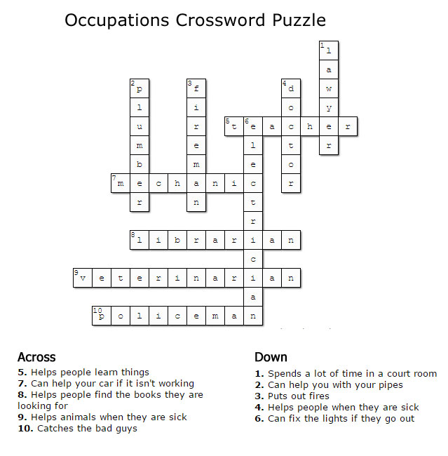 Kids crossword puzzles new calendar template site