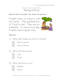 Printables Beginner Reading Worksheets reading comprehension worksheets all kids network