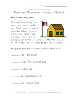 Easy Reading Comprehension - Getting Ready for School   Kids ...