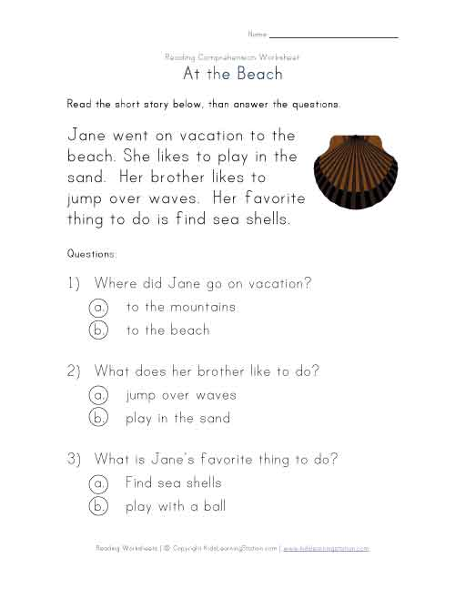 1St Grade Comprehension Worksheets – 1st Grade Reading Comprehension Worksheets Free