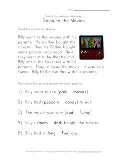math worksheet : reading comprehension worksheets  kids learning station : Kindergarten Reading Comprehension Worksheet