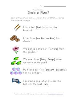 math worksheet : 8 great free plural worksheets  kids learning station : Singular And Plural Worksheets For Kindergarten