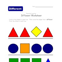 different shape worksheet