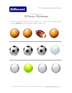 math worksheet : thinking skills worksheet  which sports ball  kids learning station : Sports Math Worksheets