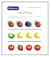 different worksheet