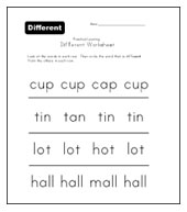 different words worksheet