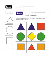 same shapes worksheet