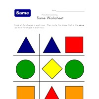 same shape worksheet