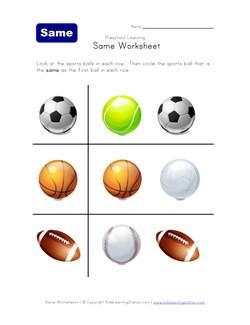 math worksheet : thinking skills worksheet  which sports ball  kids learning station : Sports Math Worksheets