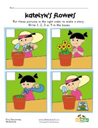 spring sequencing worksheet