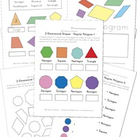 2 dimensional shapes worksheets