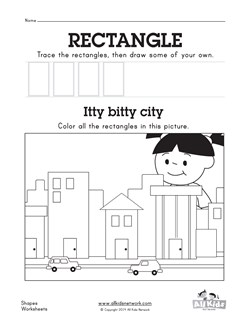 Rectangle Worksheet | Kids Learning Station