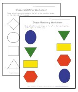shape matching worksheets