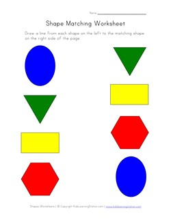 Shapes Matching Worksheet | Kids Learning Station