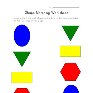 shapes matching worksheet
