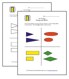 long and short worksheets