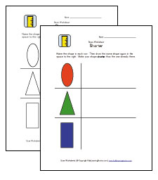 shorter worksheet