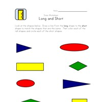 long to short matching worksheet