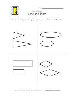 math worksheet : 15 great free length worksheets  kids learning station : Kindergarten Length Worksheets