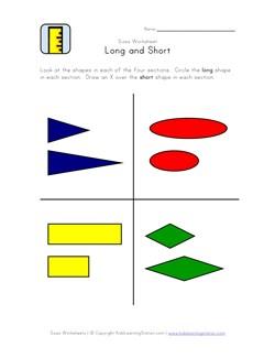 math worksheet : long and short worksheet  kids learning station : Long And Short Worksheets For Kindergarten