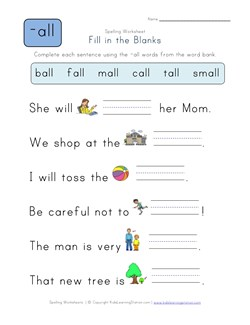 math worksheet : complete the sentences with en words  kids learning station : Fill In The Blank Worksheets For Kindergarten