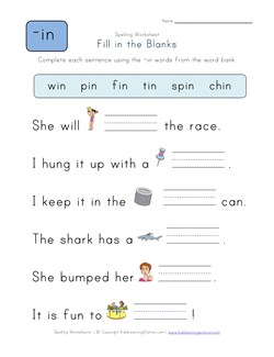 math worksheet : fill in the blank sentences worksheets for kindergarten  look at  : Fill In The Blank Math Worksheets