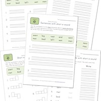 spelling short e words worksheet