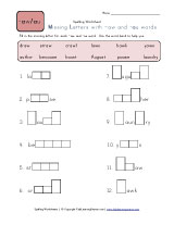 ... Worksheets for Words with -aw and -au Pattern   Kids Learning Station