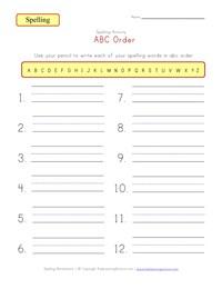 Customizable Spelling Worksheets | Kids Learning Station
