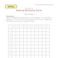 blank spelling word list kids learning station. Black Bedroom Furniture Sets. Home Design Ideas