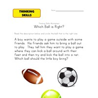thinking activity worksheet sports