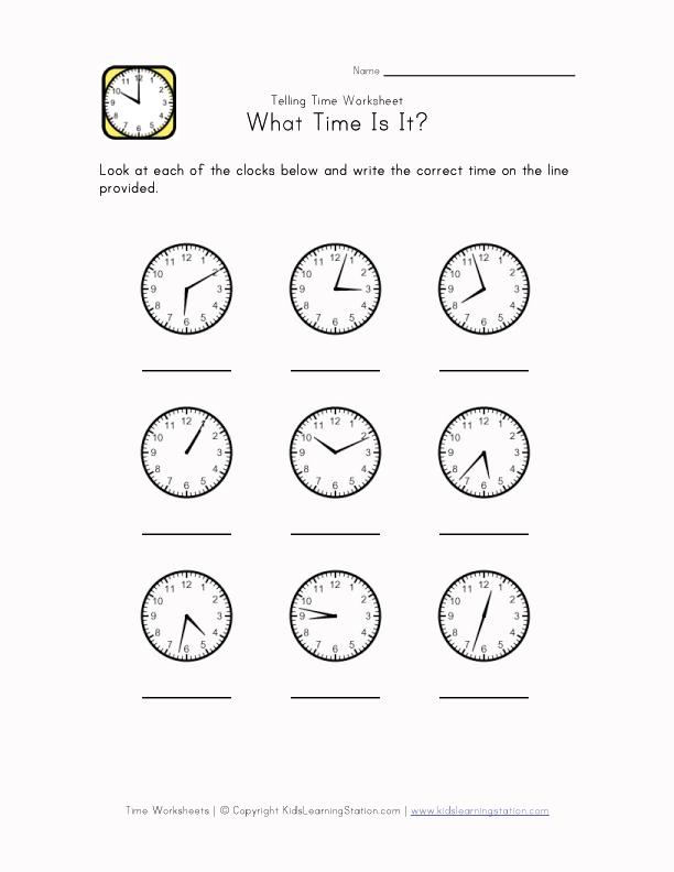 time worksheet 1 minute intervals kids learning station. Black Bedroom Furniture Sets. Home Design Ideas