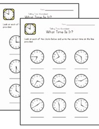 math worksheet : time worksheets  kids learning station : Telling Time Worksheets Kindergarten