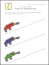 slanted lines worksheet