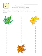 vertical lines worksheet
