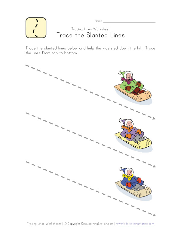 Tracing Lines Worksheet | Kids Learning Station