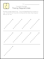 trace diagonal lines