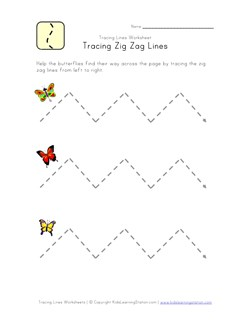 Tracing Lines Worksheets | Kids Learning Station