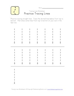 Tracing Lines Worksheets   Kids Learning Station